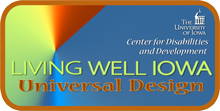 Living Well Iowa - Universal Design logo